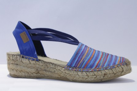 "Close toe Espadrille with bands ""Tropicana"""