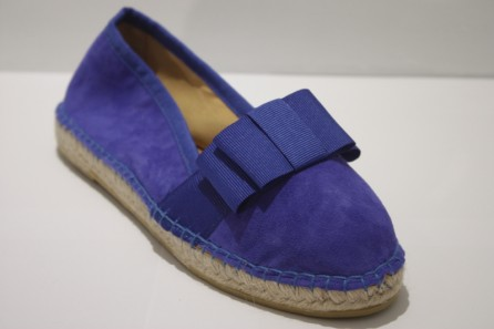 Espadrille Bow Ballerina in Leather