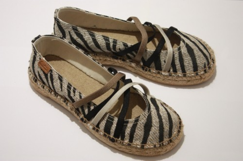 Ballerina espadrille with bands