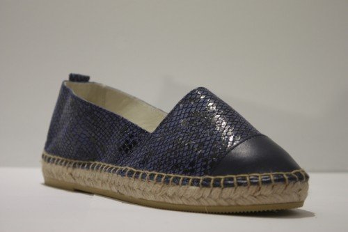 Snake leather espadrille