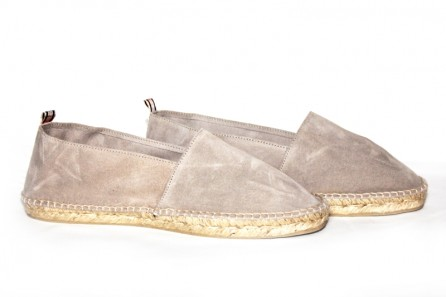Leather espadrille hand sewn