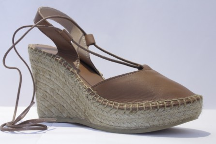 Wedge Espadrille in leather