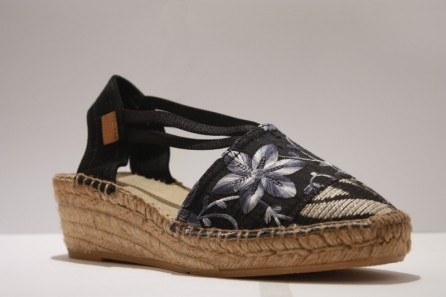 "Espadrille with bands ""Patchwork"""