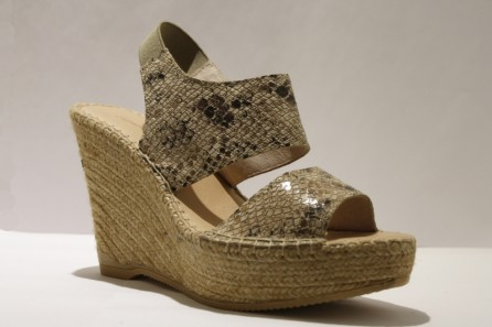 Platform espadrille in leather