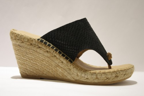 Flip-Flop espadrille in leather