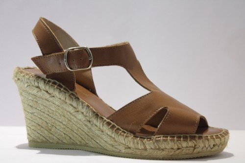 Leather salomé espadrille