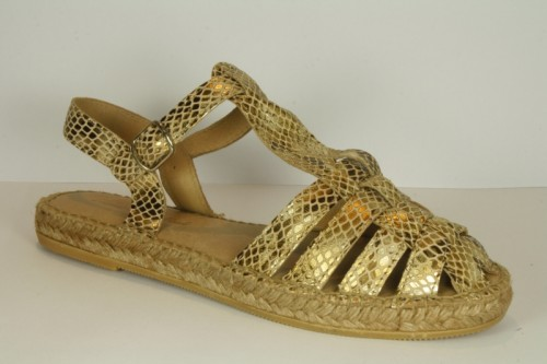 Sandal Espadrille Leather