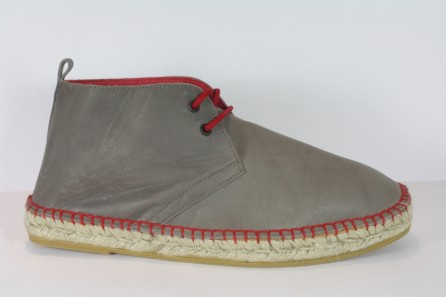 Leather boots espadrille