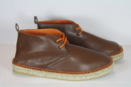 Boots espadrille cuir