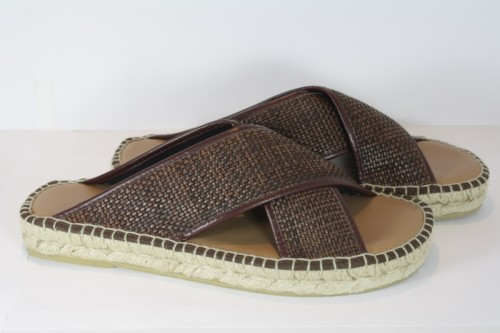Leather sandals espadrille