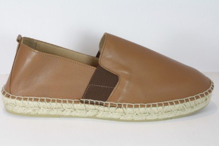 Slip-ons leather espadrille