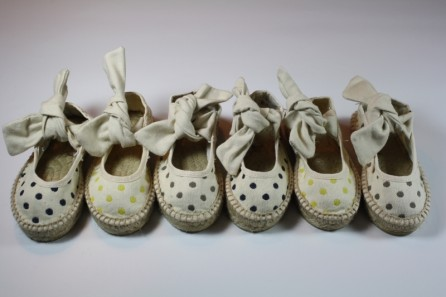 "Polka dots Children Espadrille ""Mathilda"""