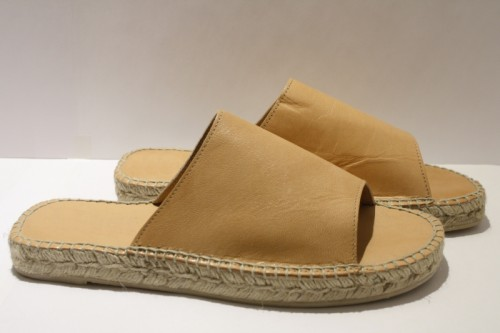 Sand leather slippers espadrille
