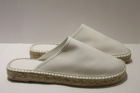 Slippers coton espadrille