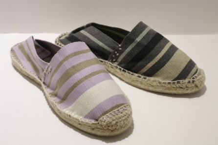 Espadrille traditionnelle cousue main rayée