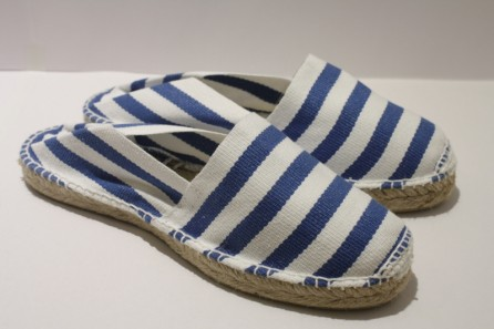 Espadrille traditionnelle cousue main marinière