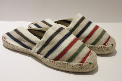 Striped Traditional hand sewn Espadrille