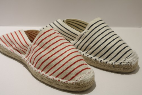 Espadrille traditionnelle cousue main marinière fine