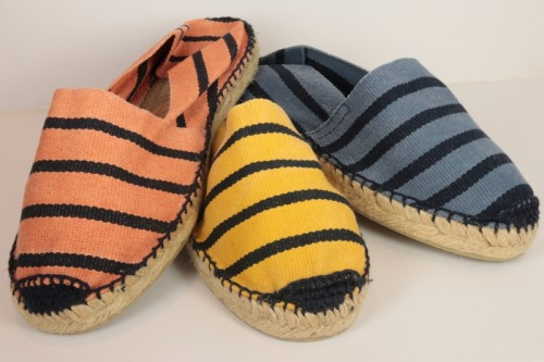 Striped stone washed espadrille