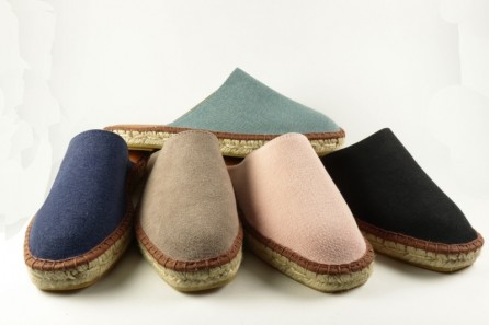 Slippers espadrilles in stone washed