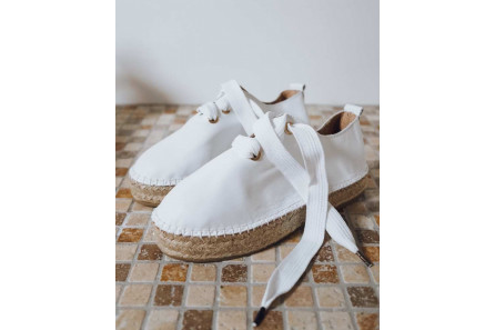 Wedges Sneakers Espadrilles in Leather