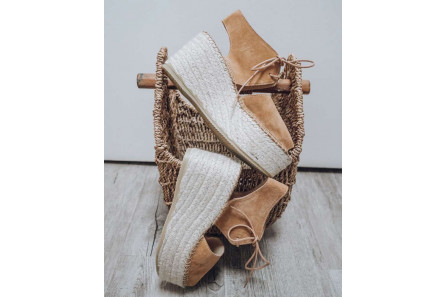 Wedges Espadrilles  sandals with lace