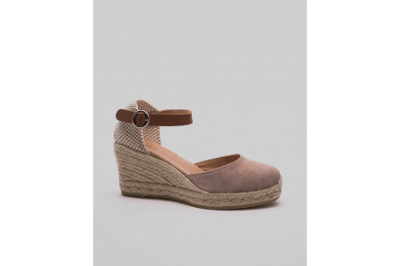 Wedge espadrille in nubuck