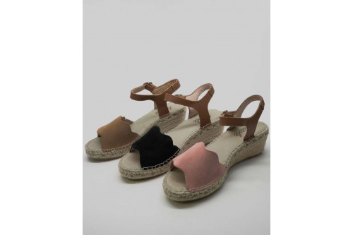 "Espadrille sandale ""vague"""