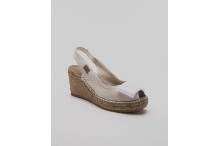 Espadrille Mariage avec noeud (cathy)