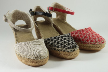 Espadrille coton  and yute braided with buckle (cunit)