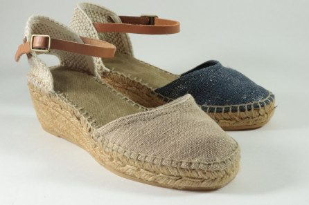 Sparkle espadrille with buckle