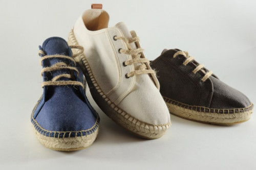 Men espadrille sneakers in stone washed